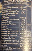 Lait d'Amande Omega - Informations nutritionnelles - fr