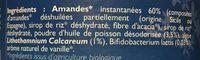 Lait D'amande Omega En Poudre Bio - 800 G - La Mandorle - Ingrédients