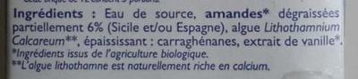 Lait d'amande - Ingrediënten - fr