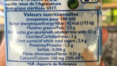 Lai d'amande à la vanille - Ingrediënten