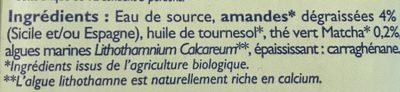Almond Matcha - Ingrediënten - fr