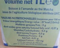 Almond Matcha - Voedingswaarden - fr