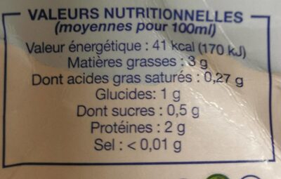 Amande Cuisine - Nutrition facts - fr