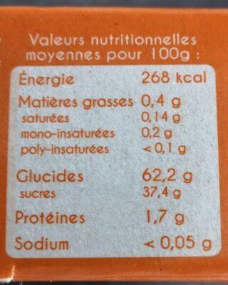 Dattes moelleuses deglet noir d'Algérie - Nutrition facts
