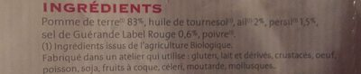 Pommes de terre sautees - Ingrédients - fr