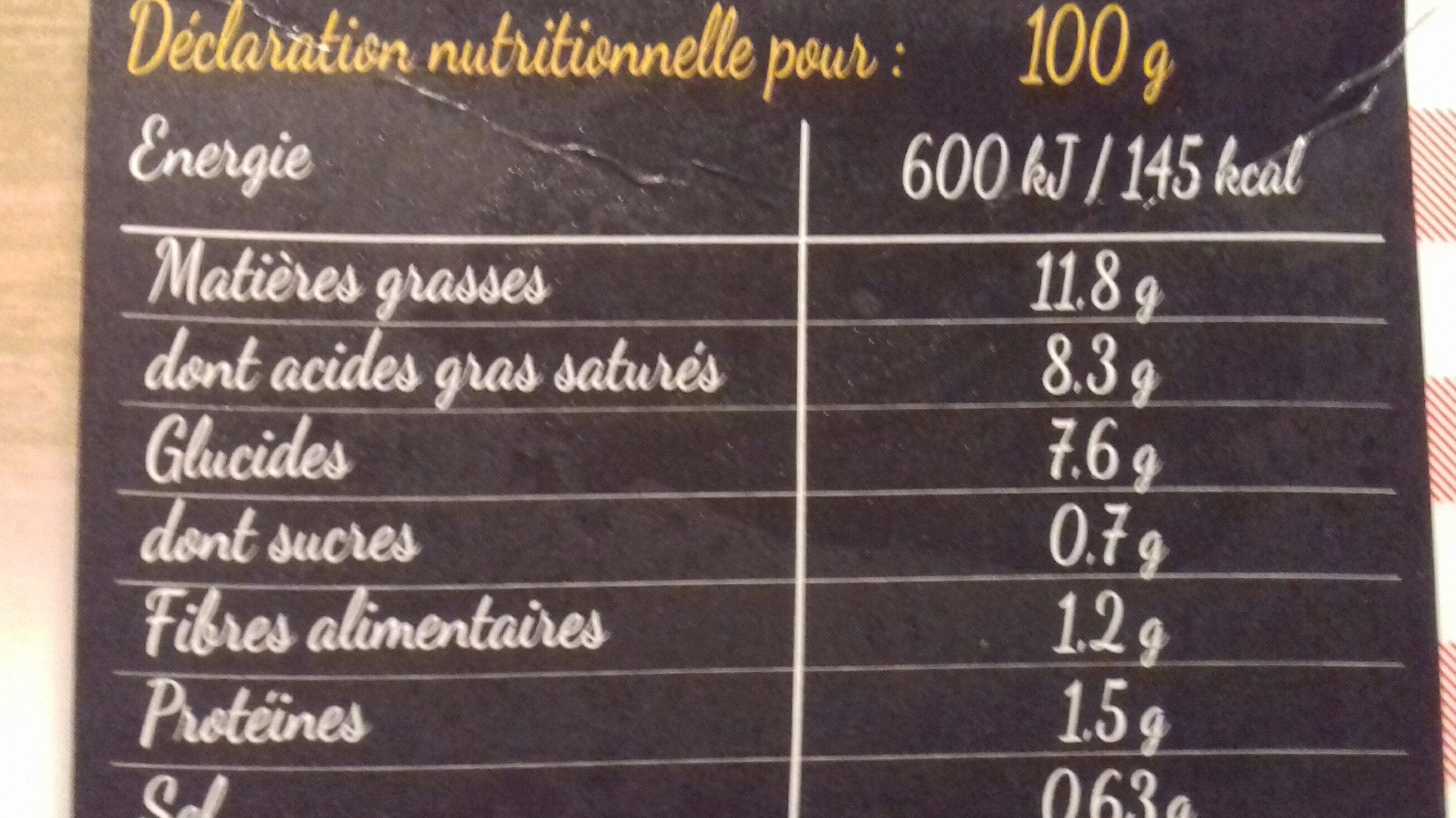 Écrase de pomme de terre façon grand mère - Informations nutritionnelles - fr
