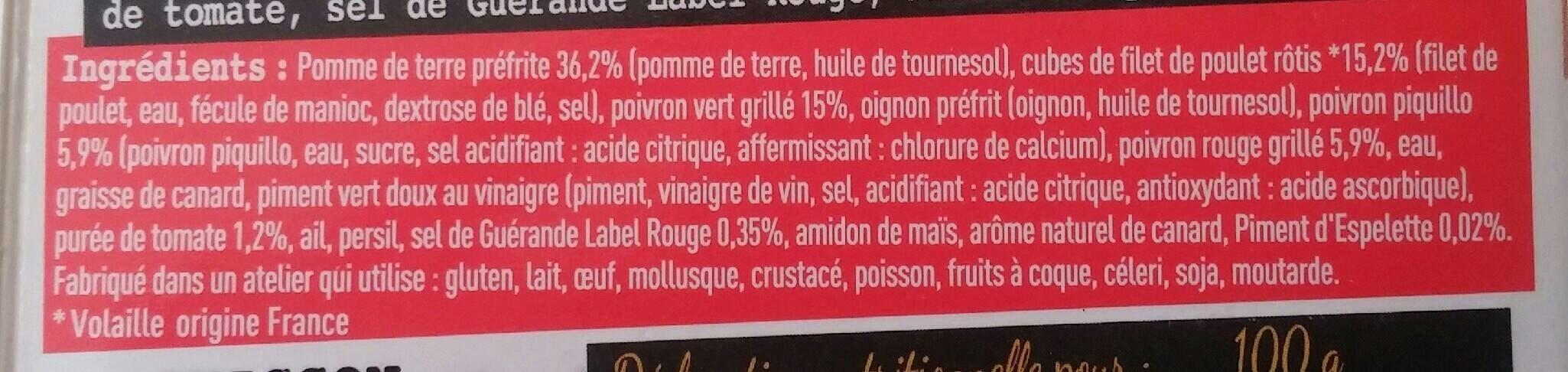 Poêlée basquaise - Ingrédients - fr