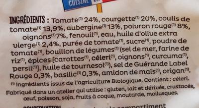 Ratatouille bio - Ingrédients - fr