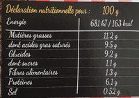 Aligot - Informations nutritionnelles - fr