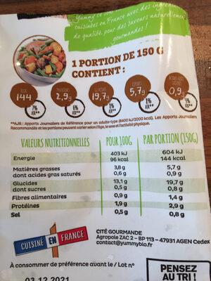 Poêlée Parisienne BIO - Ingredients - fr