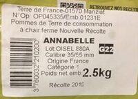 Pomme de terre Primeale Blanches salade risolees - Ingrédients - fr