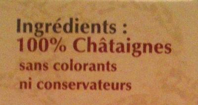 Châtaignes cuites & pelées - Ingrédients - fr