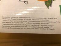 Bulles D'orange Bio, Boisson Gazeuse à L'orange. - Ingrediënten - fr