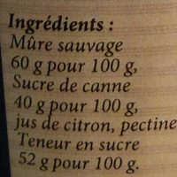 Confiture de mûre sauvage - Ingredients