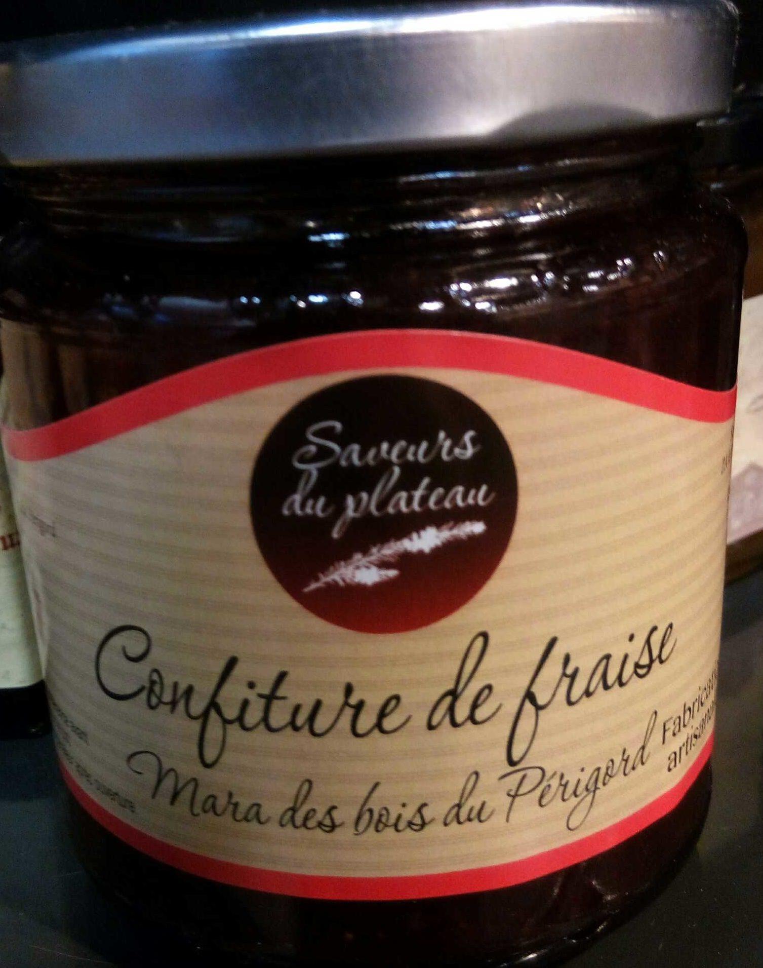 Confiture de fraise mara des bois du Périgord  Saveurs du