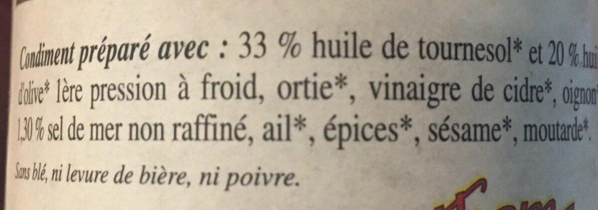 Tartare aux orties - Ingrédients - fr