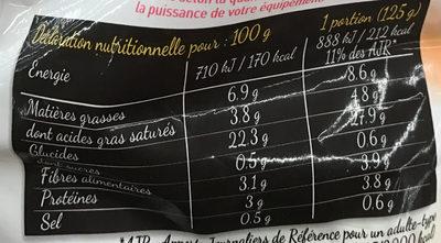 Frites du Ch'Nord - Informations nutritionnelles - fr