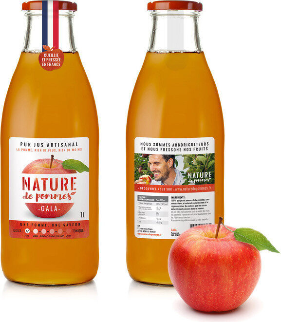 100% Jus de pommes Gala - Prodotto - fr