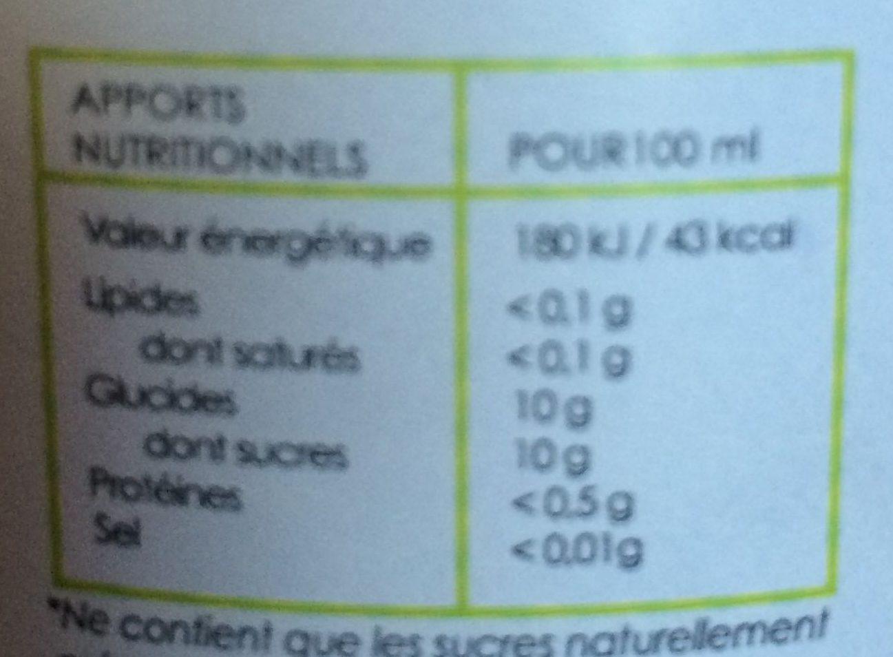 100% Jus de pommes Gala - Valori nutrizionali - fr