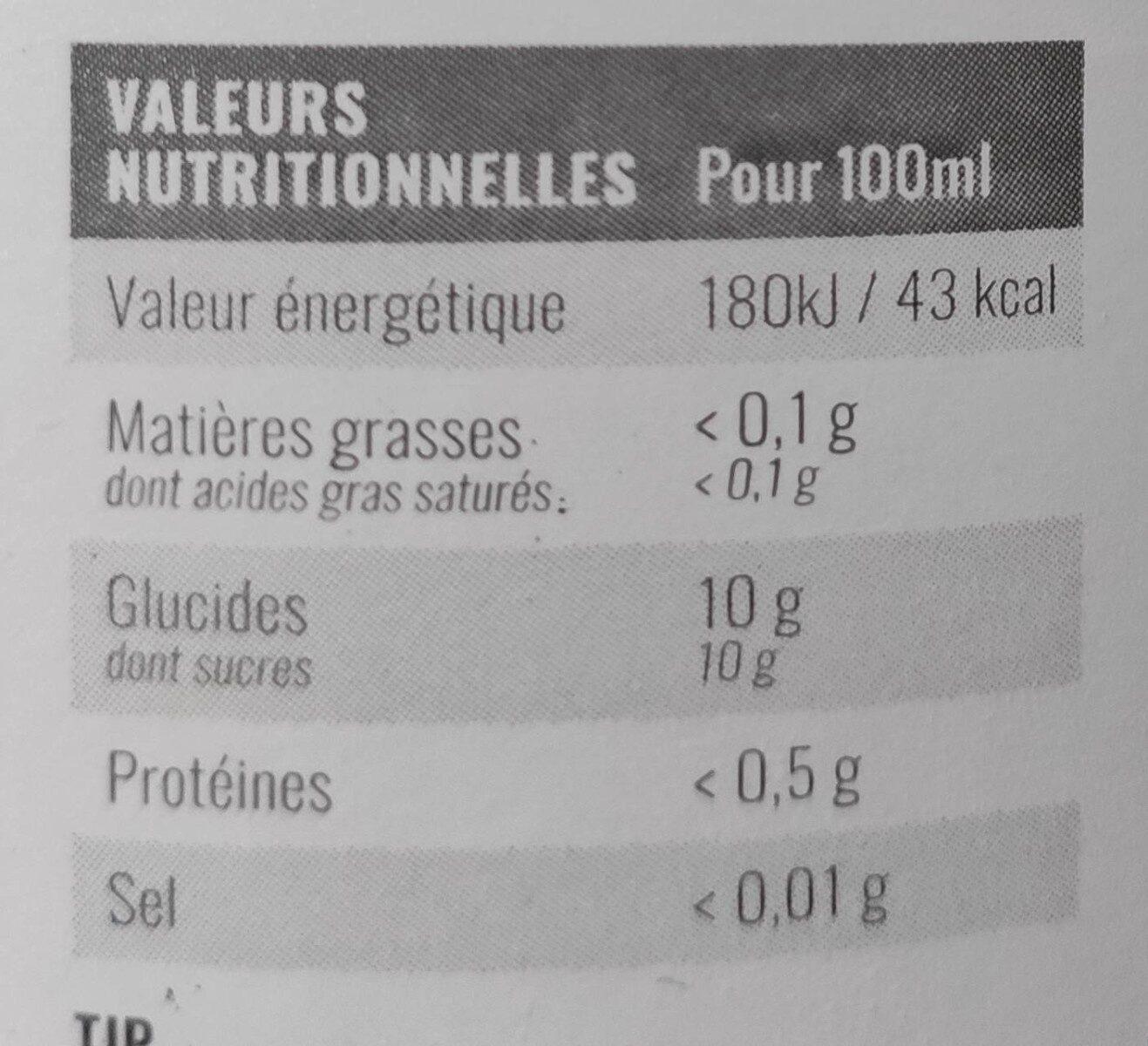 100% Jus de pommes Granny - Informations nutritionnelles - fr