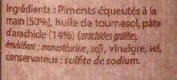 Pâte De Piment Cacahuète Toco - Ingrédients - fr