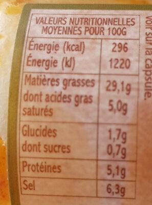 Pâte De Piment Cacahuète Toco - Informations nutritionnelles - fr
