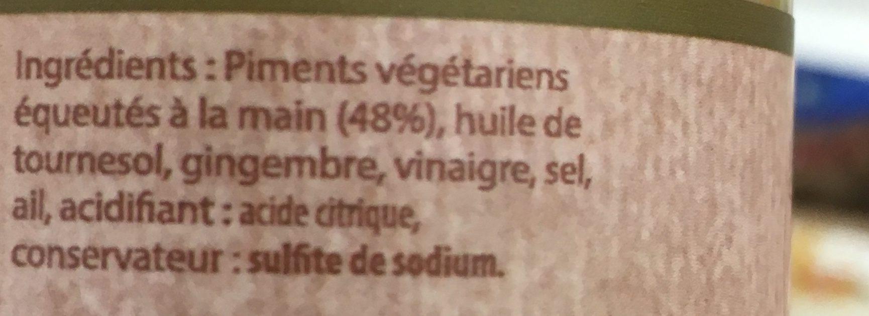 Pâte De Piment Végétarien Toco - Ingrediënten