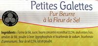Petites Galettes bretonnes - Ingrediënten