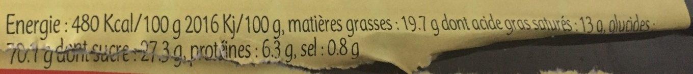 Petites Galettes bretonnes - Voedigswaarden