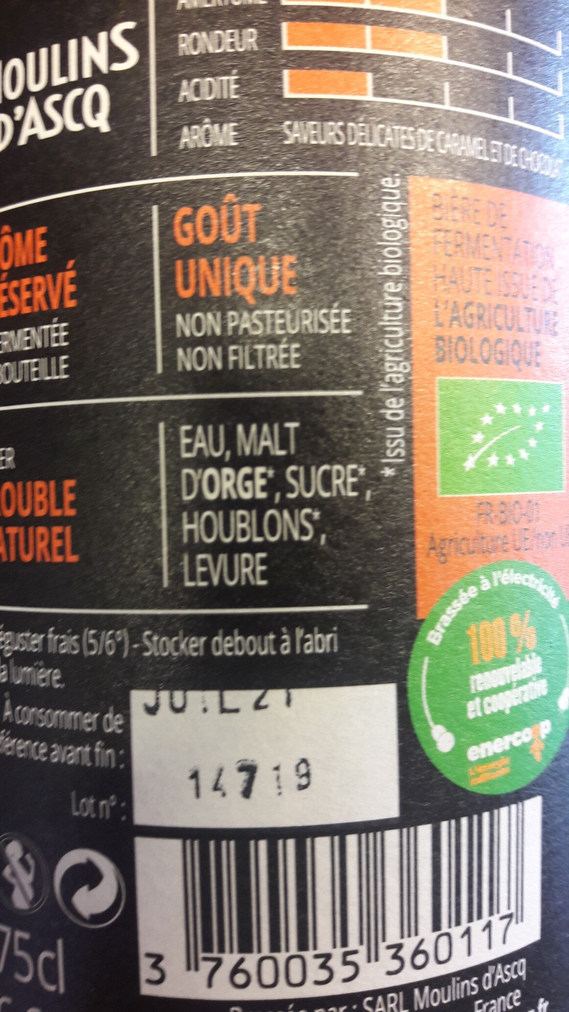 Biere Ambree - Ingrédients - fr