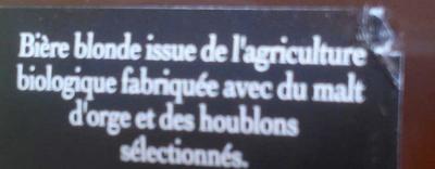 Moulins d'Ascq Blonde - Ingrediënten - fr