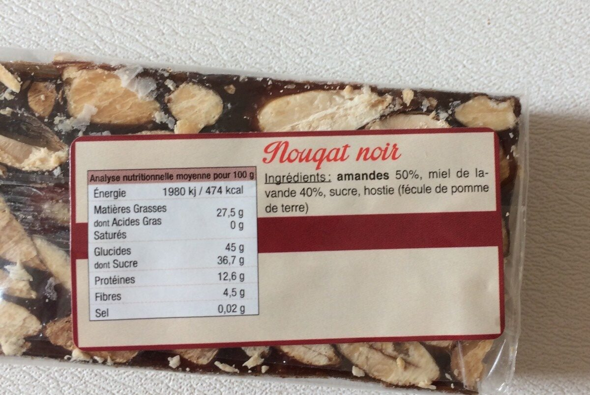 Nougat noir - Ingrédients - fr