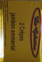 2 crêpes jambon emmental - Produit - fr