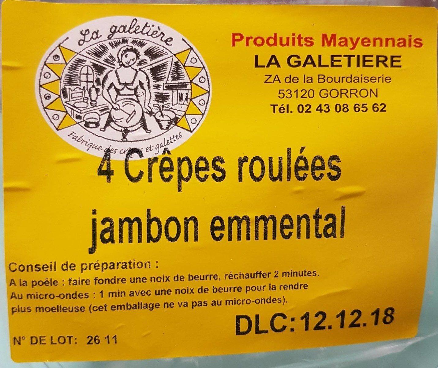 Crêpe  jambon emmental - Produit - fr