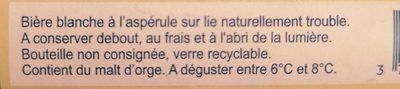 Biere blanche UBERACH, 4.8° - Ingredients - fr