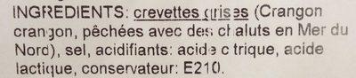 Crevettes grises décortiquées - Ingredients