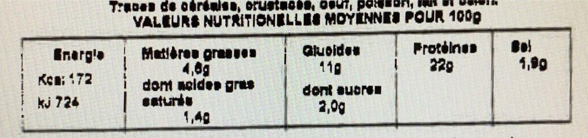 Moules a la Catalane - Informations nutritionnelles - fr