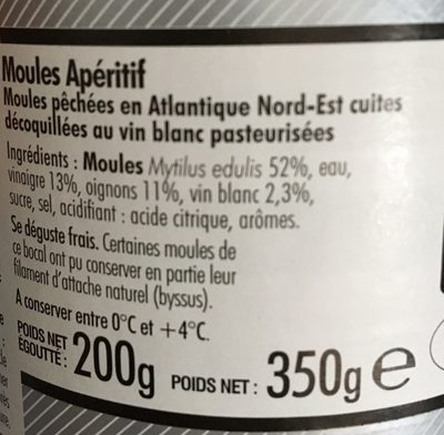 Moules Apéritif Delicemer, - Ingrediënten