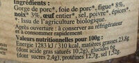 TERRINE FIGUE NOIX BIO 110G - Ingredients - fr