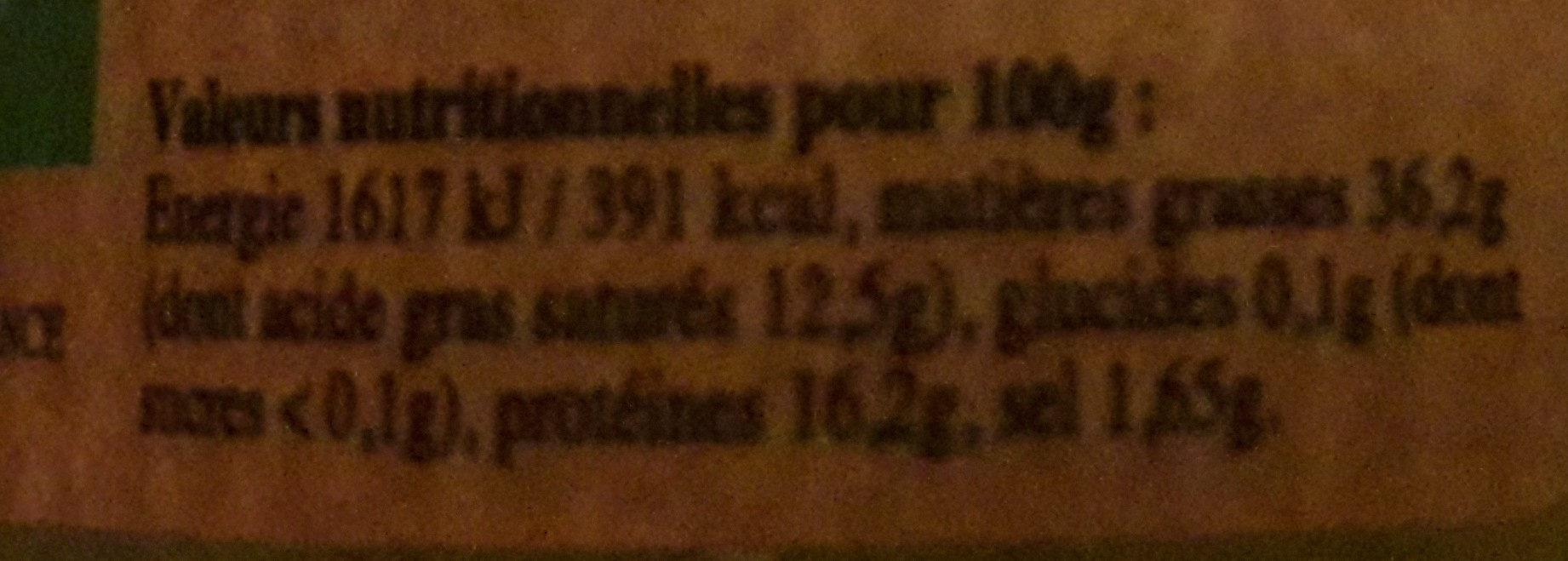 Terrines artisanales biologiques corses - Valori nutrizionali - fr