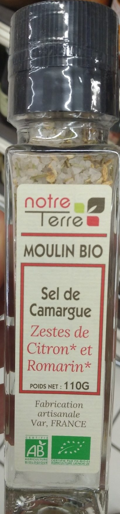 Sel de Camargue aeste de citron bio et de romarin bio - Product