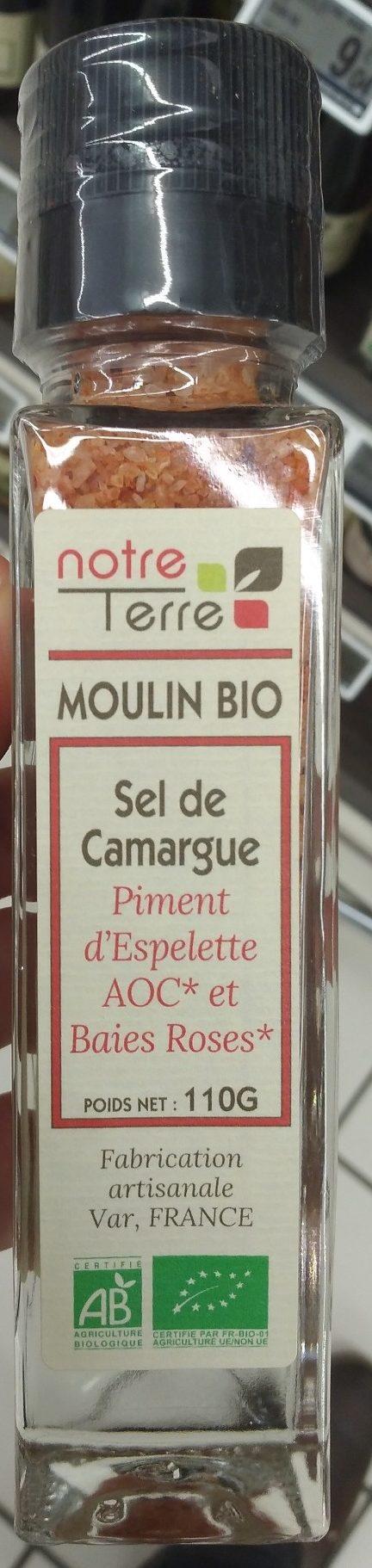 sel de Camargue piment d'espelette AOC et baies roses - Produit - fr