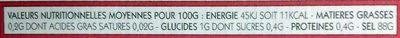sel de Camargue piment d'espelette AOC et baies roses - Informations nutritionnelles - fr