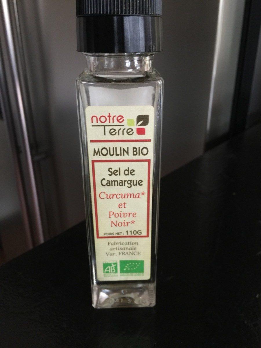 Sel de camargue curcuma et poivre noir - Produit - fr