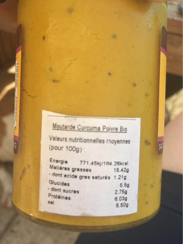 Moutarde biologique - Informations nutritionnelles - fr