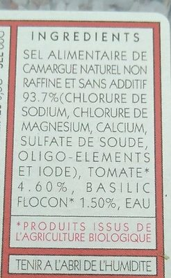 Sel de camargue - Ingrediënten