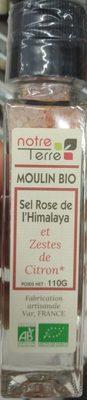 Moulin Bio Sel Rose de l'Himalaya et Zestes de Citron - Product