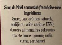 Sirop de noel - Ingrédients - fr