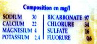Dilo - Informations nutritionnelles