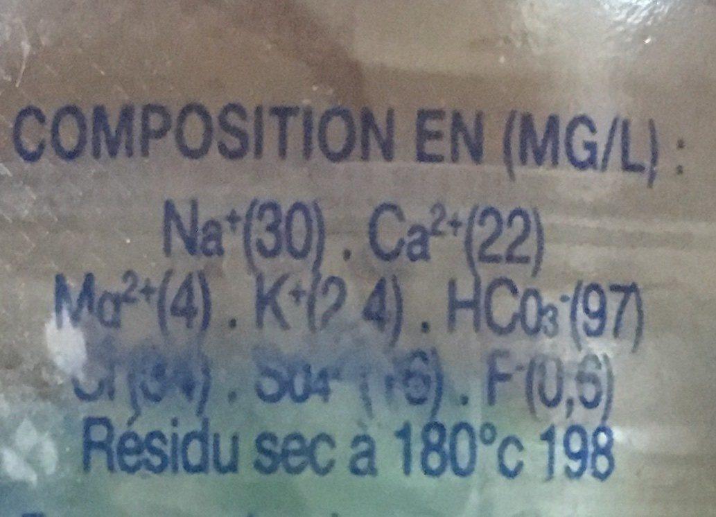 eau de source naturelle dilo - Ingredients - en